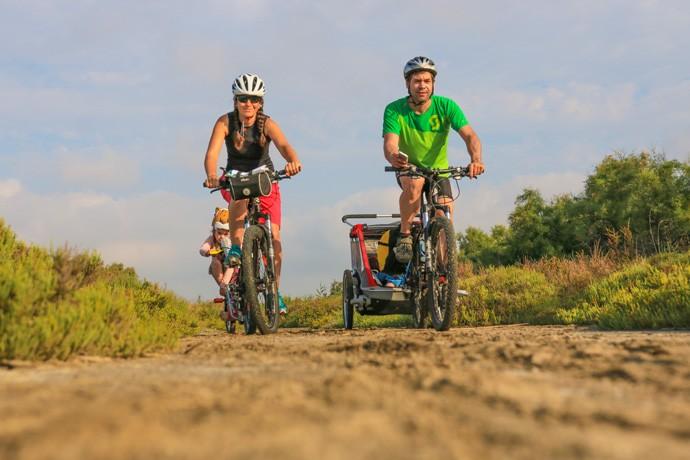 Vélo en Camargue en famille
