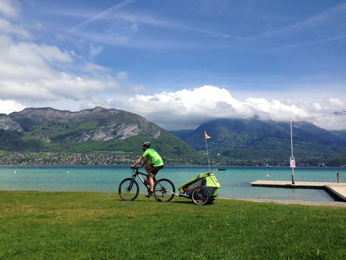 Tour lac Annecy velo enfants