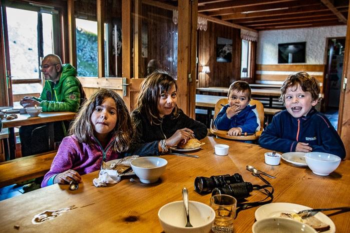 Refuge en famille - repas