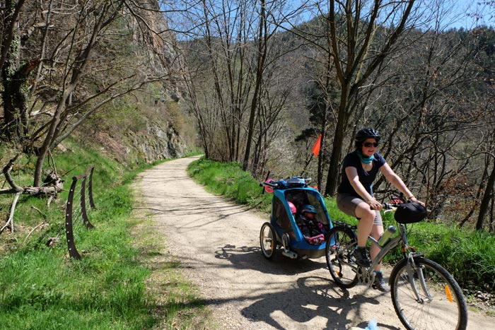 Dolce Via en famille à vélo