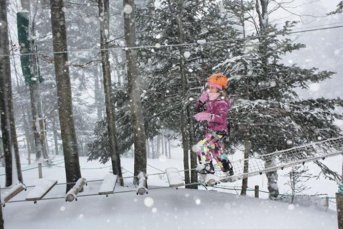 Accro branche hiver dans les Vosges
