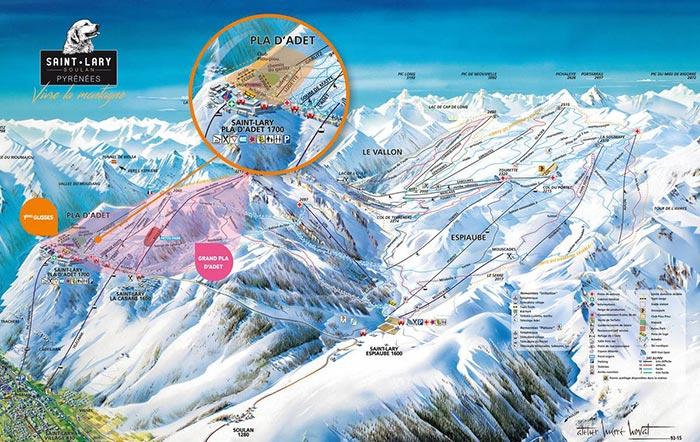 Plan des pistes de la station de Saint Lary (2019)