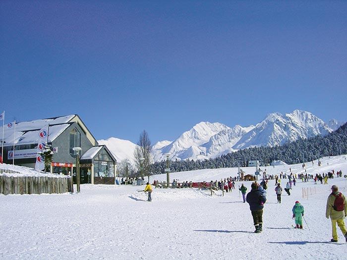le front de neige de la station de Val Louron