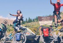 olivier gaudin et sa famille en road trip vélo en amérique