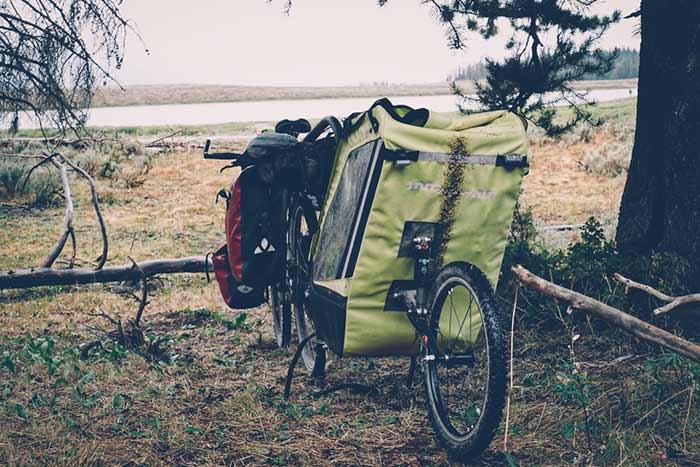 la remorque single trailer mono roue de la famille d'olivier