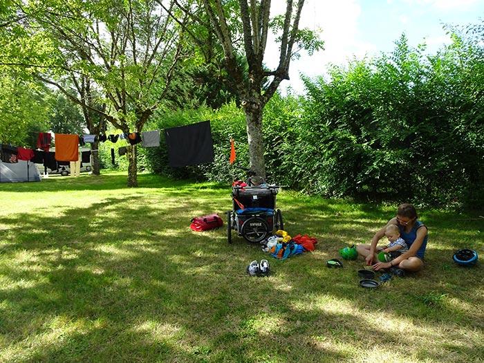 Le verdoyant camping du Sabot d'Azay-le-Rideau