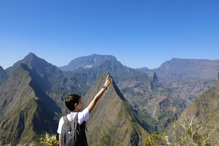 randonnée en famille du côté de Mafate à la Réunion