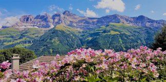 photo panorama dents du midi été suisse