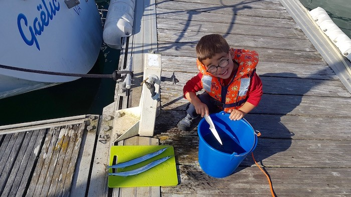 Enfant peche poisson bretagne