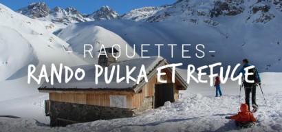 Raquette à neige et pulka avec enfant au refuge du Saut dans la Vanoise