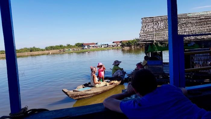 Village flottant Cambodge en famille