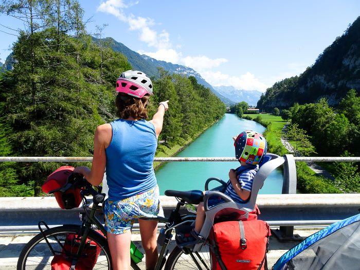 Suisse à vélo en famille Interlaken