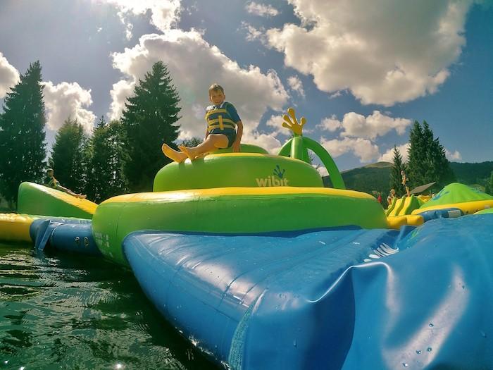 parc aquatique pour enfants les Gets Wibit