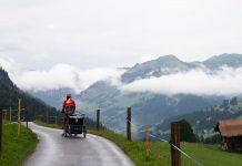 suisse à vélo en famille