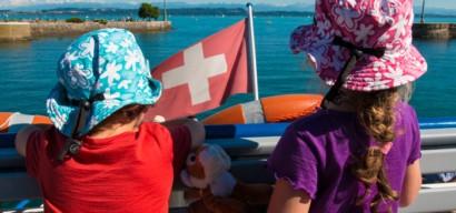 Tour du lac de Neuchatel en vélo avec enfants