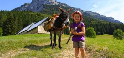 Randonnée avec des ânes en Chartreuse