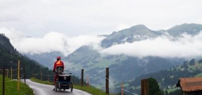 La route des lacs, traversée de la Suisse à vélo en famille