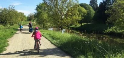 La Vélo Francette, bicyclette en famille sur sur les bords de la Mayenne de Laval à Angers