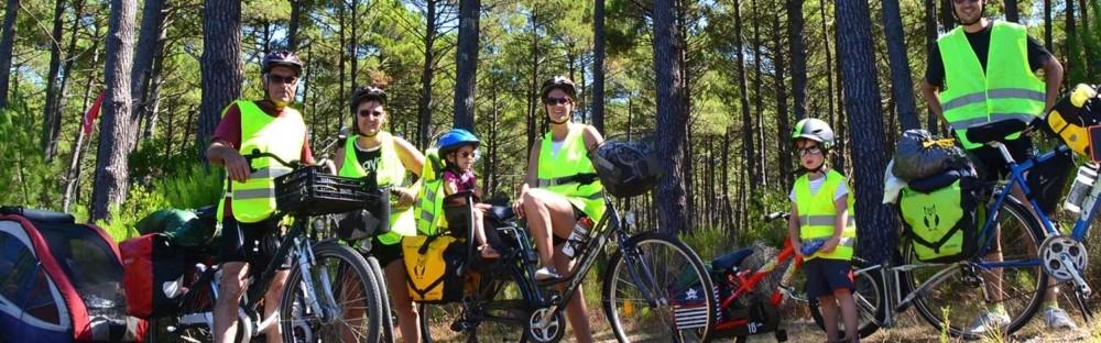 La Vélodyssée d'Ychoux à Bayonne : trois générations en cyclo-rando itinérante