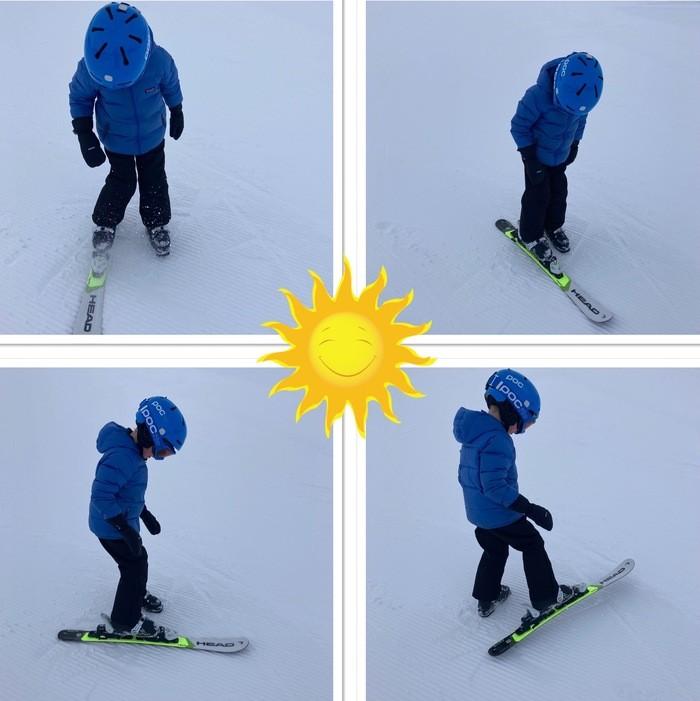 Côté plat du ski et côté coupant de la carre
