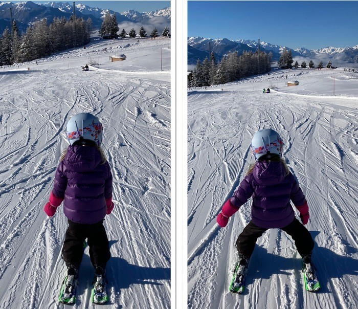 Exercice skier serré/ très écarté