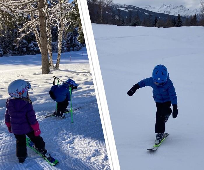 Skier sur un ski