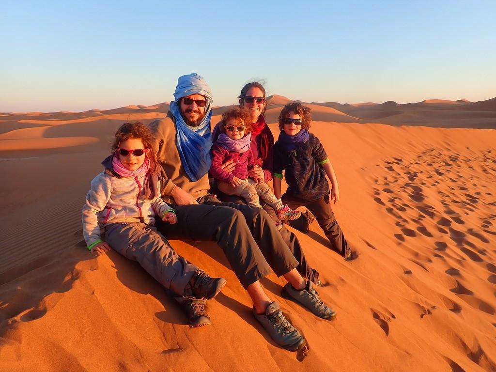 Désert, Maroc en famille