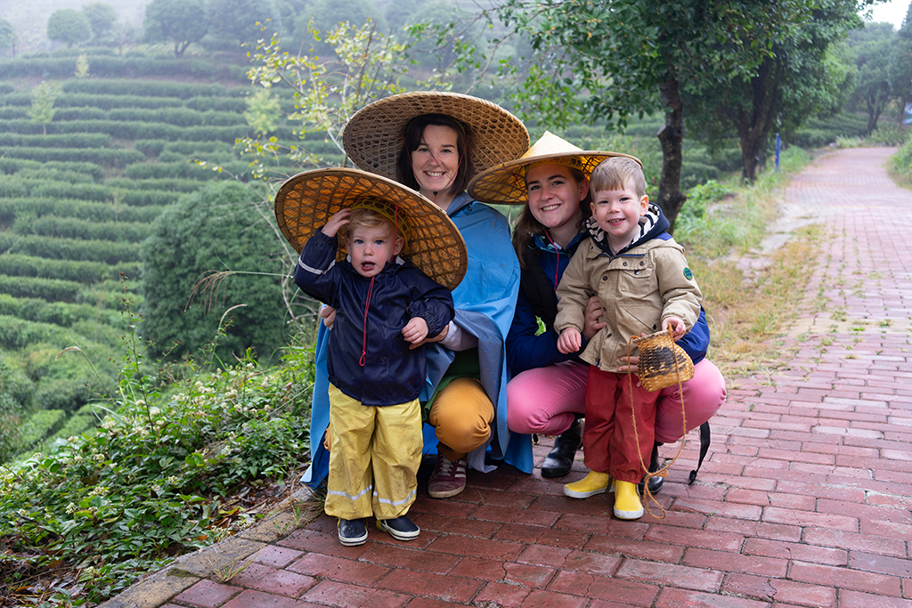 Visite de champs de thé Chine
