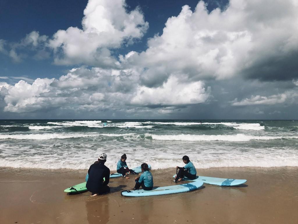 Vacances surf famille