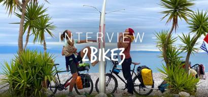 Interview de parents sur les routes du monde à vélo avec leur bébé