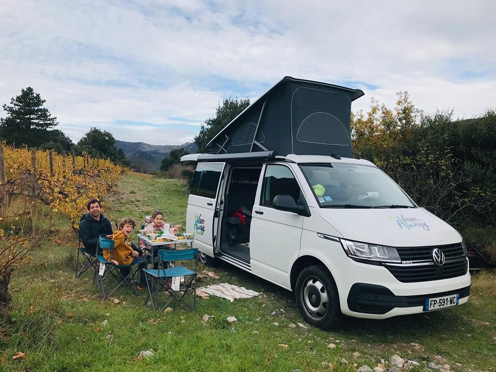 Roadtrip Van dans l'Aude en famille