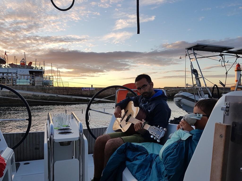 itinérance en Bretagne sud à bord d'un voilier