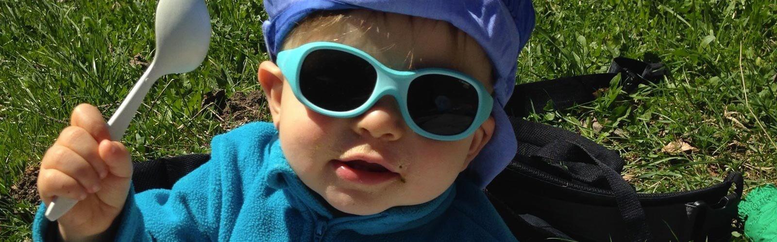 Lunettes soleil bébé à bandeau